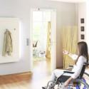 Ouverture automatique de porte d'entrée pour personne à mobilité réduite