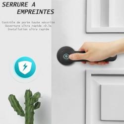 Serrure de porte connectée à empreintes digital