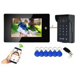 Visiophone connecté lecteur de badges et codes télécommandé